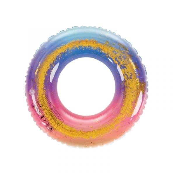 Bóia Multicolorida com Purpurinas para Criança Aremar
