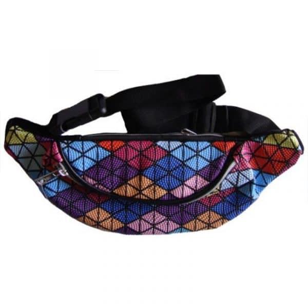 Bolsa de Cintura Multicolorida Losangos