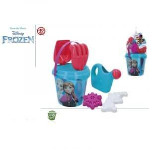 Conjunto de Balde de Praia Transparente com Regador Frozen Disney