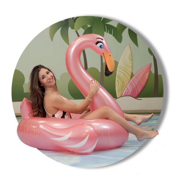 Bóia Grande Flamingo Insuflável Aremar