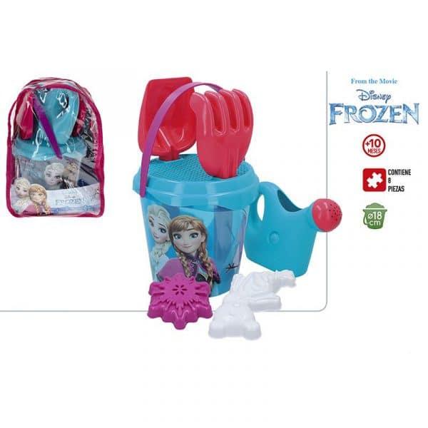 Mochila Frozen com Conjunto de Balde de Praia e Acessórios Disney