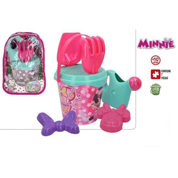 Mochila Minnie & Margarida com Conjunto de Balde de Praia e Acessórios Disney