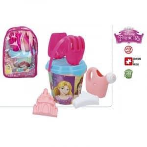Mochila Princesas com Conjunto de Balde e Acessórios Disney