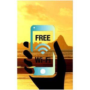 Toalha Praia Microfibra Free Wi-Fi