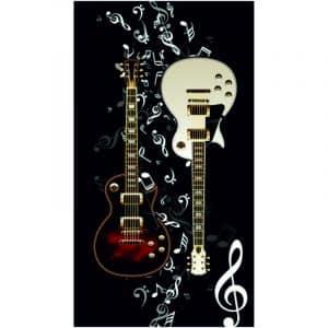 Toalha Praia Microfibra Guitarras