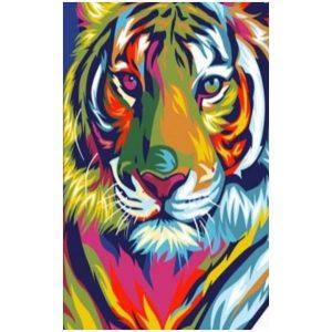Toalha Praia Microfibra Pintura Tigre