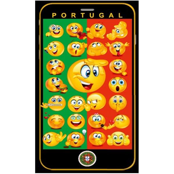 Toalha Praia Microfibra Smartphone Emojis Portugal
