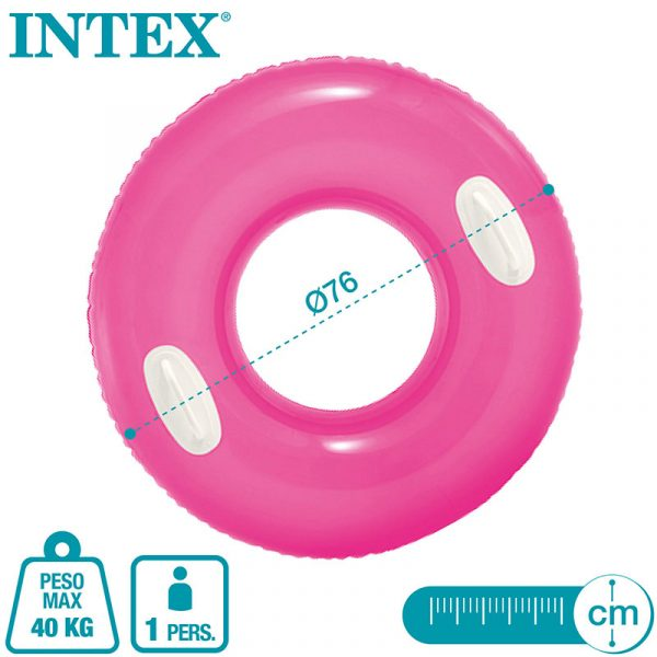 Bóia Insuflável Fluorescente com Pegas Intex