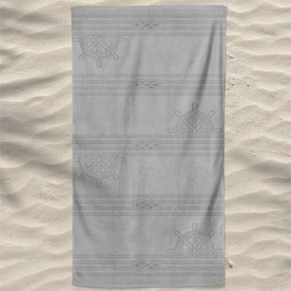 Toalha de Praia Algodão Cavada Cordas Leme
