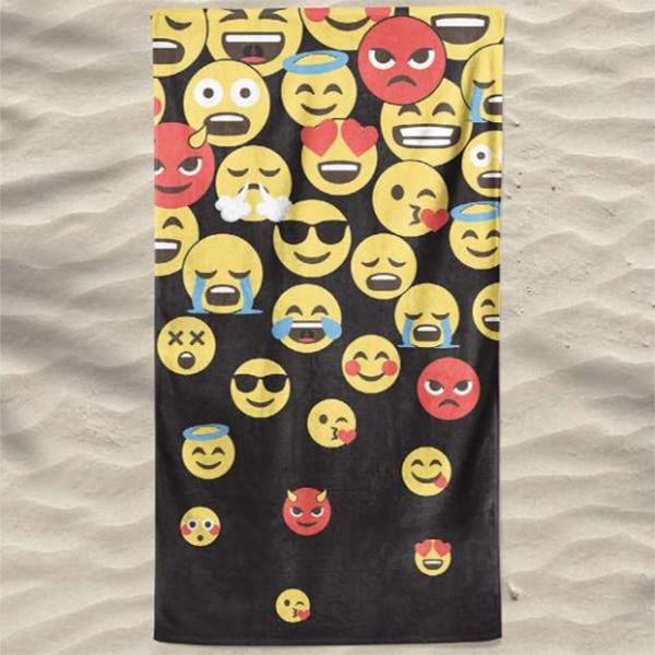 Toalha de Praia Microfibra Emoticons