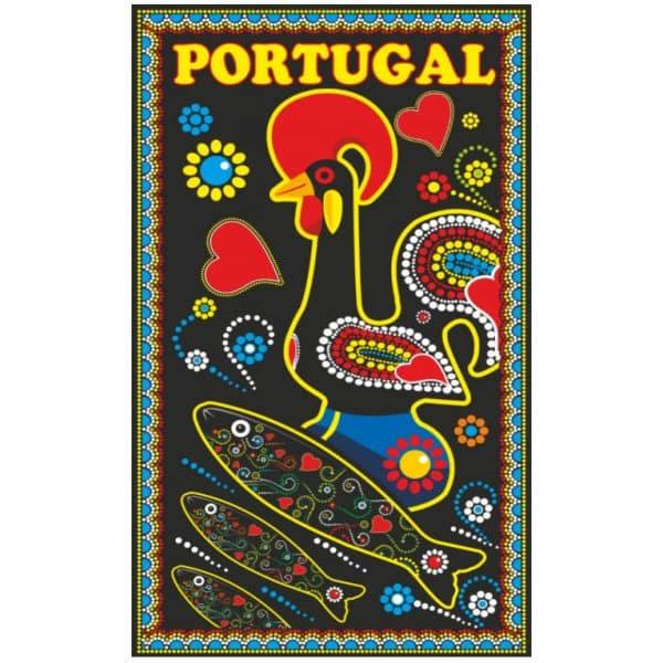 Toalha de Praia Microfibra Galo de Barcelos Sardinhas Portugal