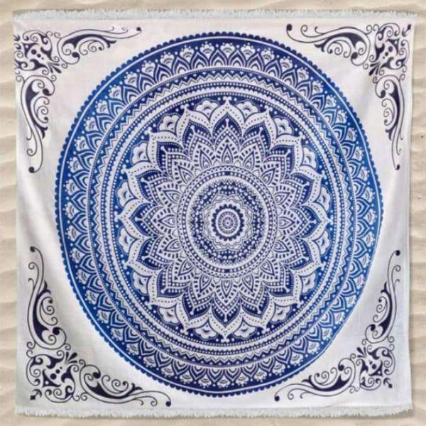 Toalha Grande Indiana Mandala Redonda 240 x 210 cm
