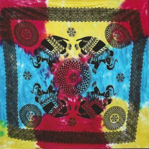 Toalha Grande Indiana Multicolorida 240 x 210 cm Quatro Elefantes
