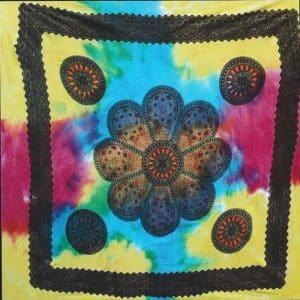 Toalha Grande Indiana Multicolorida 240 x 210 cm Mandala Flor