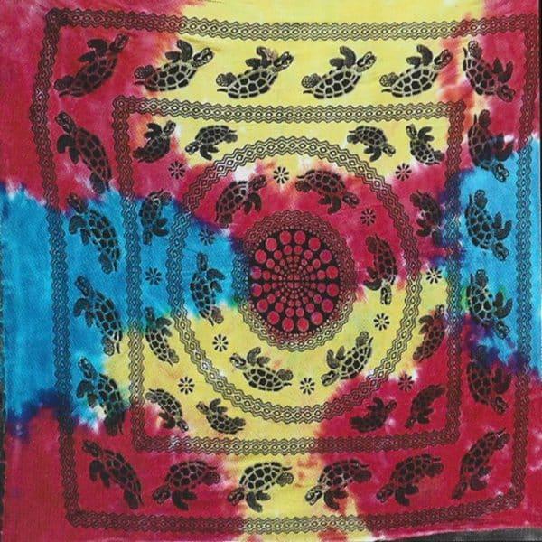 Toalha Grande Indiana Multicolorida 240 x 210 cm Tartarugas