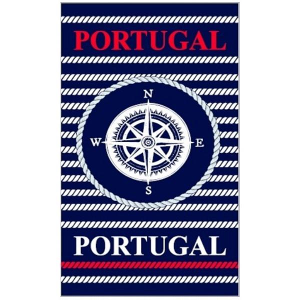Toalha Praia Microfibra Portugal Rosa dos Ventos e Cordas