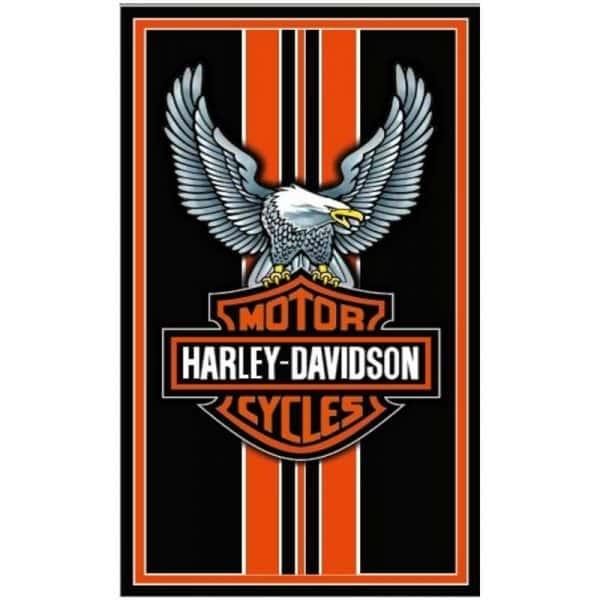 Toalha de Praia Microfibra Harley Davidson Águia