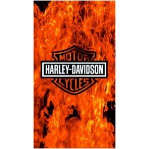 Toalha de Praia Microfibra Harley Davidson Chamas