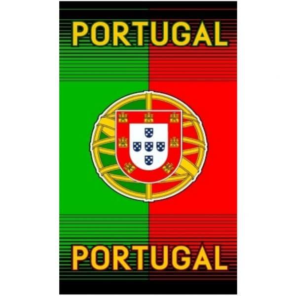 Toalha de Praia Microfibra Bandeira Portugal Listrada